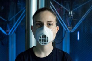 MY FACE MASK : Masque facial imprimé en 3D avec un filtre remplaçable.
