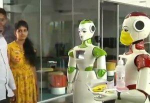 Des robots pour distribuer masques et sprays désinfectants