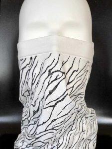 Masque et écharpe en tricot sans couture de Sandonini