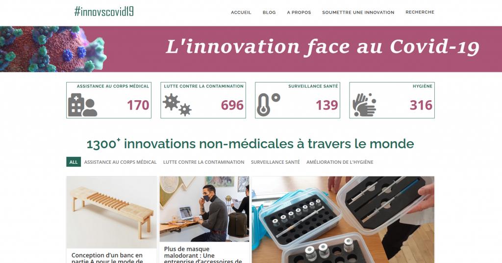 InnoVSCovid19 : nouveau look pour une dose d'innovations quotidienne au service de tous